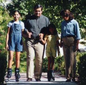 Don Chairez y su familia