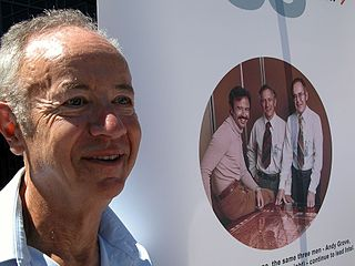Andy Grove, co-founder of Intel Corporation. Born in Hungary, the man originally known as Andras Istvan Grof spent many of his formative years hiding from the Nazis under a false identity. Grove arrived in the U.S. in 1957 with little money and even less in the way of English-language skills. He performed odd jobs throughout his early life and during college. He co-founded Intel Corporation in 1968.